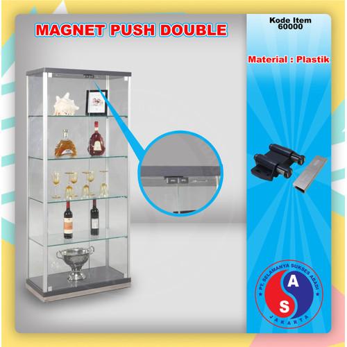 Foto Produk Magnet Hitam Double / Magnet Lemari Kaca Push Open kaca double/60000-8 dari WINSTON-OK OFFICIAL STORE