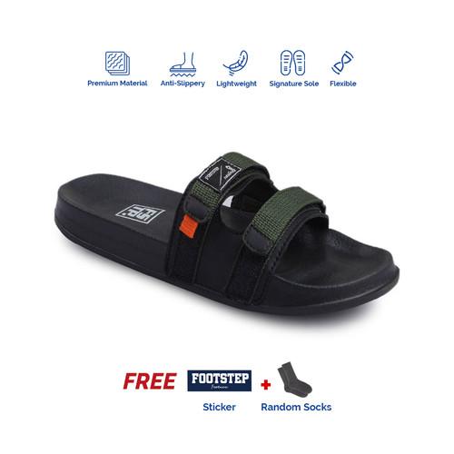 Foto Produk Sandal Pria Slide Footstep Footwear - Uno Green Army - 43 dari Footstep Footwear