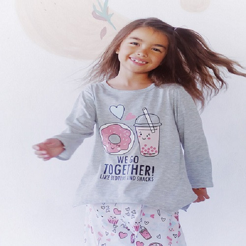 Foto Produk Piyama Anak Long Shirts Bedtime and Snacks LSLP115 - 4 dari Boboo Kids