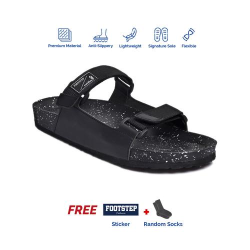 Foto Produk Sandal Outdoor Pria Footstep Footwear - Billy Black - Hitam, 41 dari Footstep Footwear