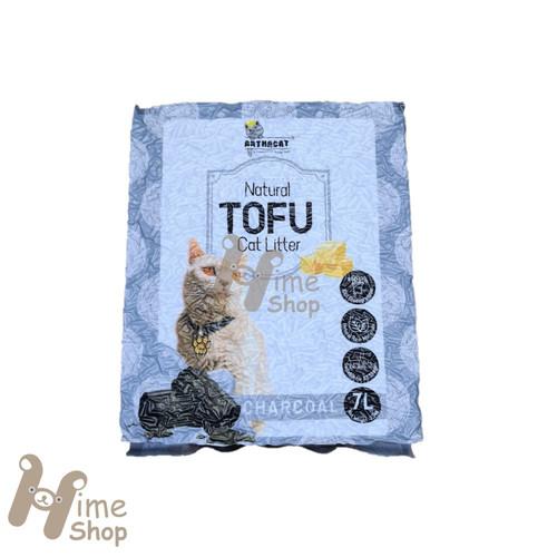 Foto Produk Arthacat Soya Tofu Cat Litter 7L 2.5kg Pellet Toilet Pasir Kucing Tahu - CHARCOAL dari Hime petshop