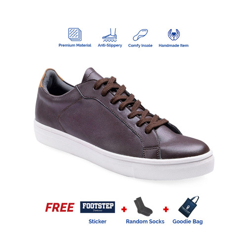 Foto Produk Sepatu Pria Sneakers Footstep Footwear - Beta Darkbrown - 39 dari Footstep Footwear