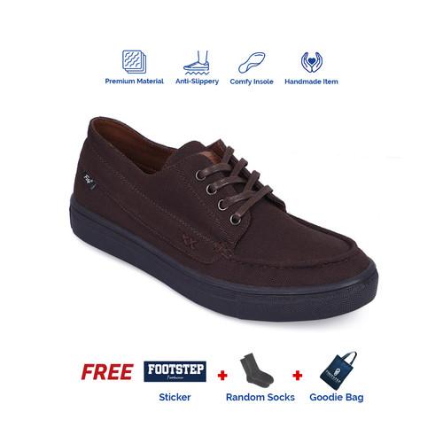 Foto Produk SEPATU SNEAKERS PRIA FOOTSTEP FOOTWEAR – ETERNAL DARKBROWN - Cokelat, 39 dari Footstep Footwear