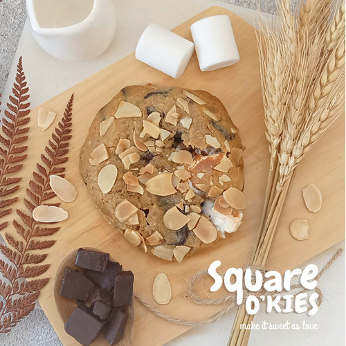 Foto Produk Marshmallow Chocolate Soft Cookies Original - Regular dari Square O'kies