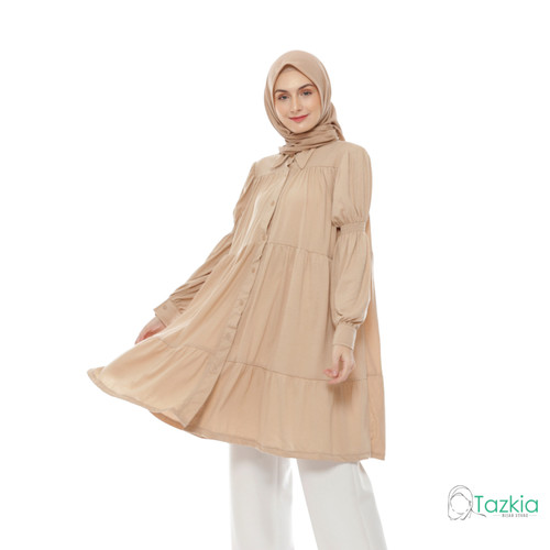 Foto Produk Atasan Muslim Wanita   Himeka Tunik Coksu   M L XL   Tazkia Hijab - M dari Tazkia Hijab Store
