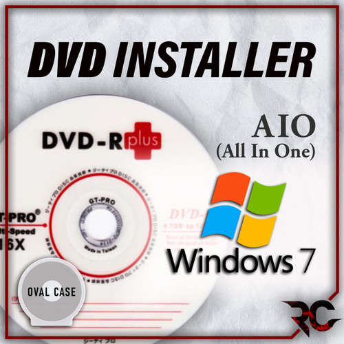 Foto Produk DVD Installer Win 7 AIO Home Pro Ultimate SP1 32 & 64 Bit Bootable - Case Oval dari Rizqi Corner