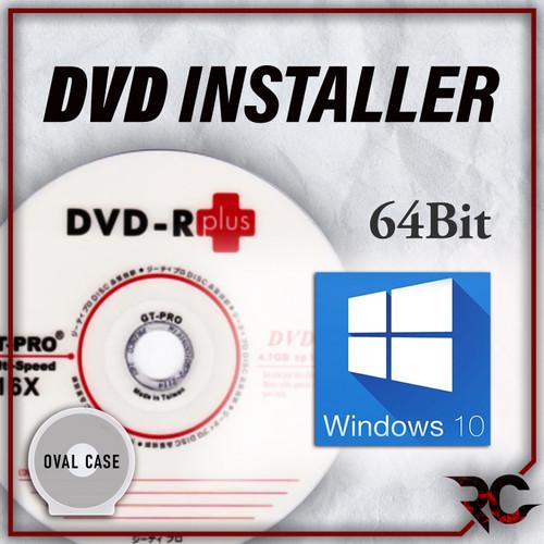Foto Produk DVD Installer Win 10 Home Single Education Pro 32 / 64 Bit Bootable - 64Bit Oval dari Rizqi Corner