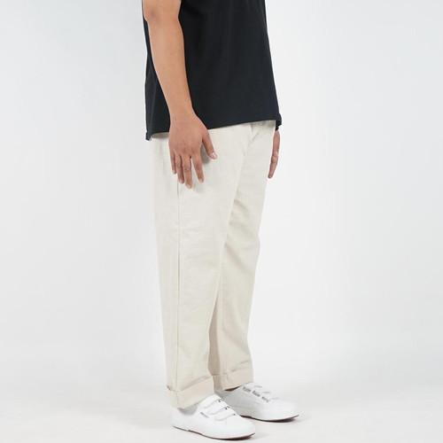 Foto Produk DailyOutfits Celana Panjang Bahan Pria Cazual Linen Pants Premium - Hitam, S dari Daily Outfits DYO