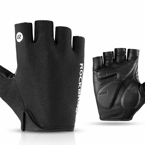 Foto Produk ORIGINAL Sarung tangan sepeda rockbros S106 half finger - Hitam, L dari Koreanholicshop