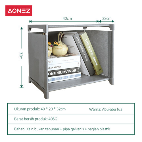 Foto Produk Aonez Rak Serbaguna 1-6 layer Bermotif Rak Buku Serbaguna Rak Portable - 1 susun dari AONEZ Official Store