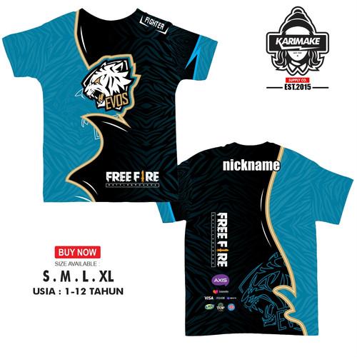 Foto Produk Kaos Jersey Gaming Jersey Anak FREE FIRE Evos Custom Bisa Pake Nama - VERSI 1, XS dari karimakes