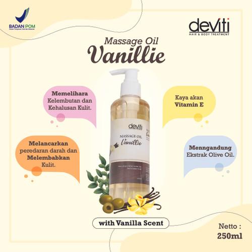 Foto Produk Deviti Massage Oil 250 ml [MINYAK PIJAT] - Vanillie dari Deviti Indonesia