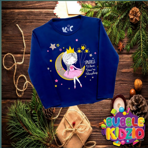 Foto Produk Kaos/ Baju Anak Perempuan Lengan Panjang Motif Dream navy 1-10 Tahun - 1 Tahun dari Bubble kidz