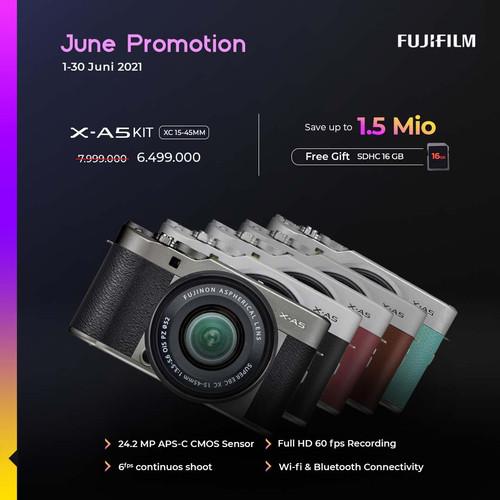 Foto Produk Fujifilm XA5 X-A5 Kit XC 15-45mm Garansi Resmi Fujifilm Indonesia dari taskamera-id