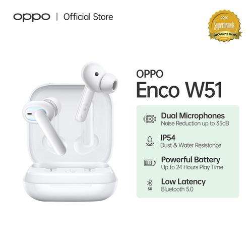 Foto Produk OPPO Enco W51 Wireless Earphone (Garansi Resmi) - Putih dari OPPO OFFICIAL STORE