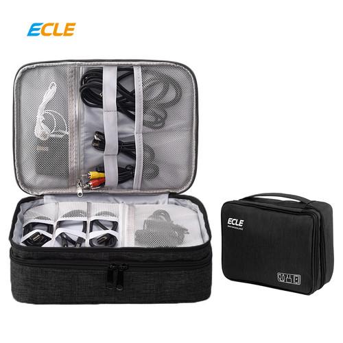 Foto Produk ECLE Storage Bag Waterproof Tas Aksesoris Gadget Portable Multifungsi - Hitam dari ECLE Official Store