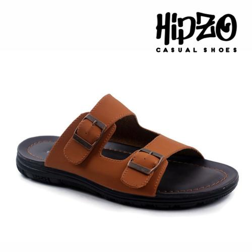 Foto Produk Sandal Pria Original Hipzo Sandal Selop Pria Vintage Kulit Terbaru - Coklat Muda, 39 dari Hipzo Official Shop