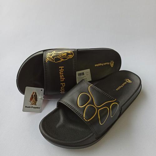 Foto Produk puppies sandal slide hush puppies sandal hush puppies sandal slop hush - hitam ls gold, 39 dari GAFISCO SNEAKERS