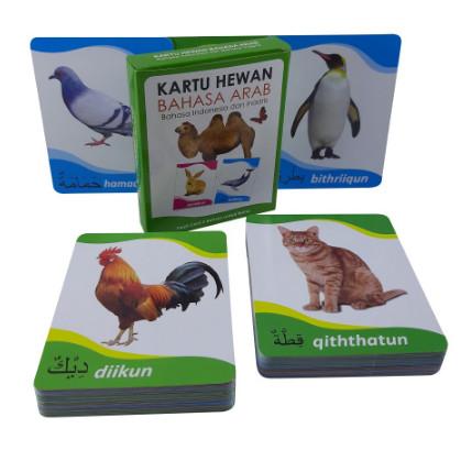 Foto Produk Flash Card / Kartu Pintar Anak Hewan Buah Alfabet Balita Lengkap - Hewan Arab dari TweedyToys