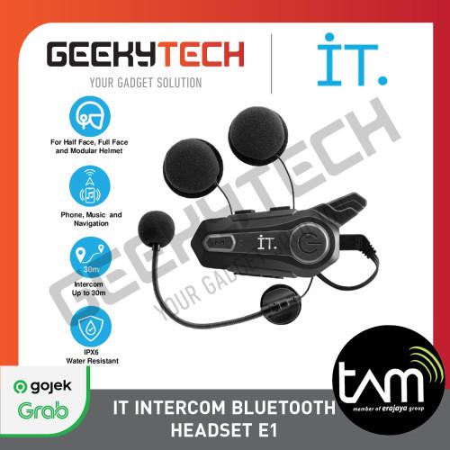 Foto Produk IT Intercom Bluetooth Headset E1 - Garansi Resmi TAM - Reguler dari GeekyTech Official