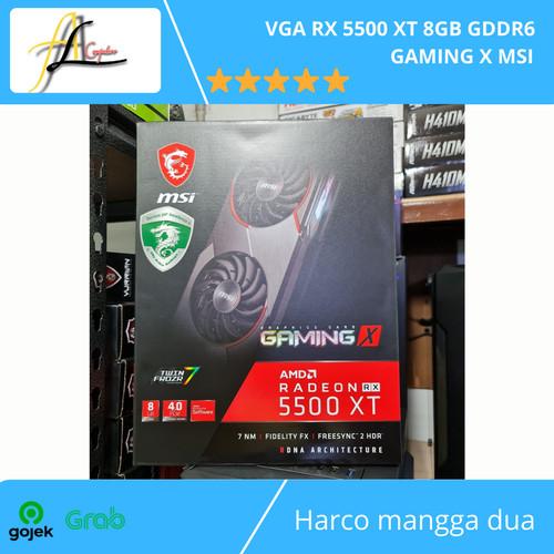 Foto Produk VGA RX 5500 XT 8GB GDDR6 GAMING X MSI dari AL computerr