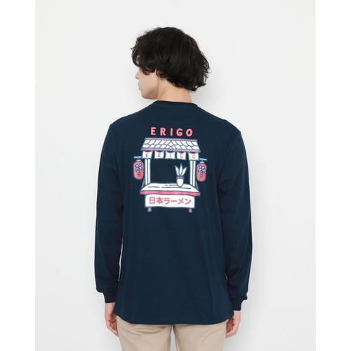 Foto Produk Kaos Pria Erigo Longsleeve Sushi Tantopo Cotton Combed Navy - S dari Erigo Official