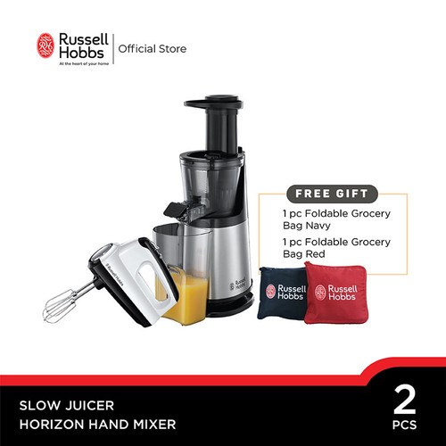 Foto Produk Bundling Russell Hobbs Horizon Hand Mixer - Compact Slow Juicer dari Russell Hobbs Indonesia