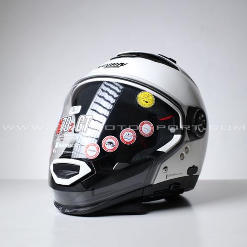 Foto Produk Nolan N70-2 GT Classics N-COM 010 Metal White - XL dari Sky MotoSport