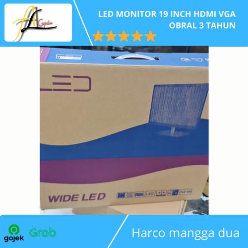 Foto Produk LED MONITOR 19 INCH HDMI VGA OBRAL 3 TAHUN dari AL computerr
