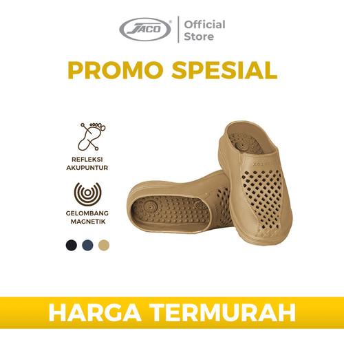 Foto Produk Sandal Terapi Kozuii Sandal Refleksi Jaco Sandal Kesehatan Gen 3 Man - Hitam, S dari JACO TVS