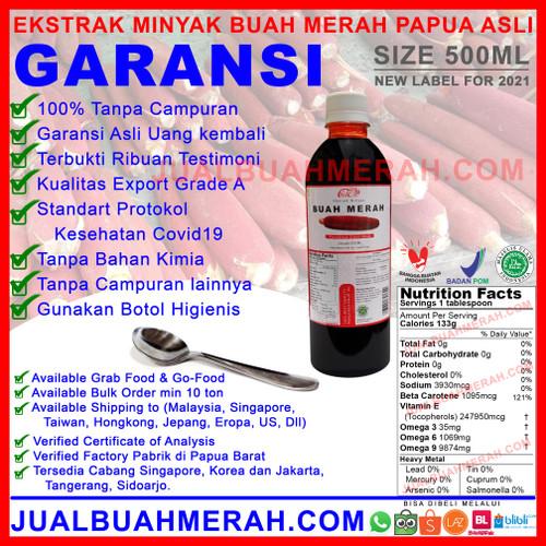 Foto Produk BUAH MERAH PAPUA CAIR 500 ML BESAR dari Cahya Indonesia