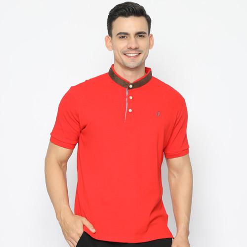Foto Produk MATSUDA Kaos Kerah Shanghai Pria Gosen - RED, L dari Matsuda Apparel