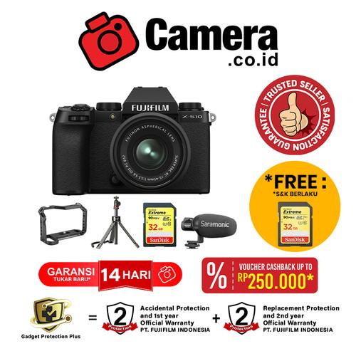 Foto Produk FUJIFILM X-S10 Kit 15-45mm + Vlogging Kit (Limited) dari camera.co.id