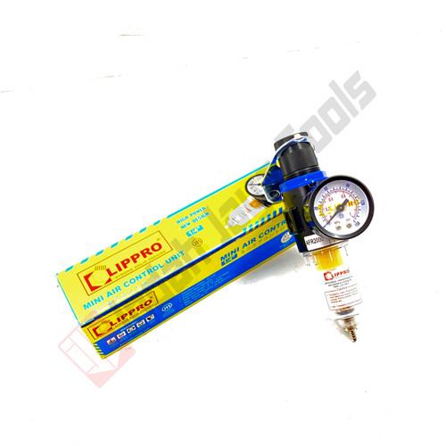 Foto Produk LIPPRO Mini Air Control Unit 1/4 Inch Filter Kompresor Udara Regulator - SINGLE dari Indah Jaya Tools
