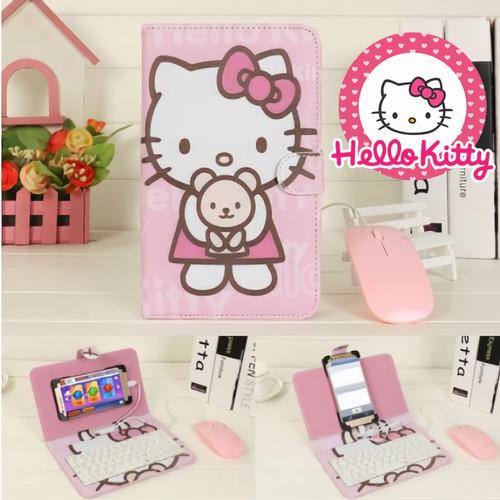 Foto Produk Micro USB Type C Android OTG Mouse Mobile Phone Holster Keyboard cover - hello kitty, type c dari Koreanholicshop