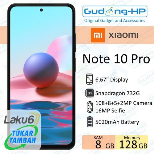 Foto Produk Xiaomi Redmi Note 10 Pro 8/128 GB Garansi Resmi - Broze dari Gudang-HP