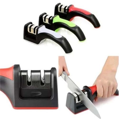 Foto Produk Pengasah gunting pisau 3 in 1 Asahan Pisau Asah Stainless steel dapur - 2in1 no box dari paffie shop
