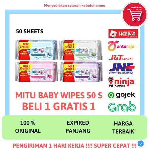 Foto Produk MITU BABY WIPES TISSUE TISU BASAH BAYI MITU 50 SHEETS 50S 50 S LEMBAR - RANDOM dari TOKOKITAOFFICIAL