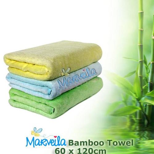 Foto Produk Marveila Bamboo Towel 60x120cm / Handuk Mandi - Hijau dari Marveila & Friends