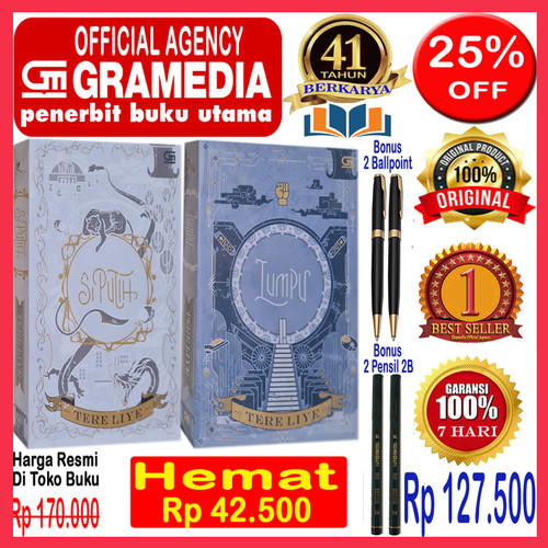 Foto Produk Paket 2 Buku Tere Liye - Lumpu & Si Putih - Original & Segel dari Official Gramedia Agency