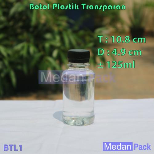 Foto Produk Botol Plastik Bulat Transparan AO 125 ml per 200 pcs dari Medan Pack