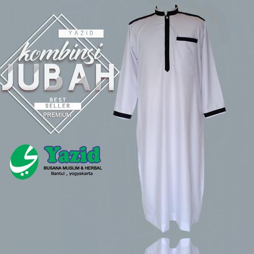 Foto Produk jubah / gamis dewasa pria merk yazid list kombinasi best seller dari Yazid Bantul