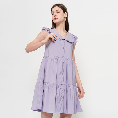 Foto Produk Chocochips - Loretta Dress Lilac - Ungu, S dari Chocochips Official Shop