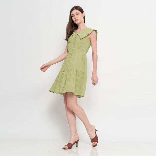Foto Produk Chocochips - Kleo Dress Matcha - Hijau, S dari Chocochips Official Shop