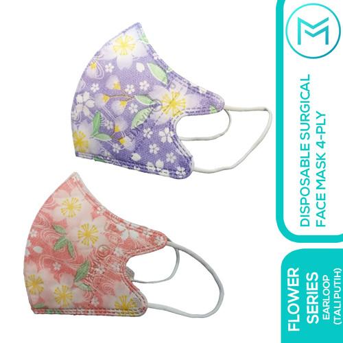 Foto Produk Masker 4ply Duckbill Flower Series Earloop & Hijab - Flower Ungu, Earloop dari Maskit Store