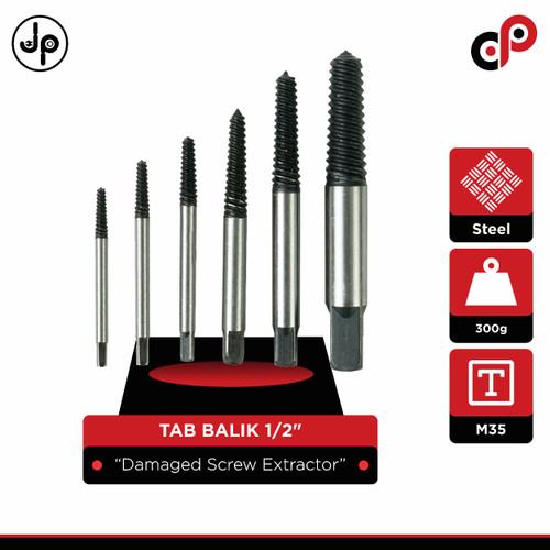 Foto Produk Tap Balik Set 6 Pcs (Screw Extractor) dari JP Technical Supply