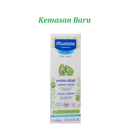 Foto Produk Mustela Hydra Bebe Facial Cream Face Cream / Krim Muka Bayi 40ml 40 ml dari toku pedia