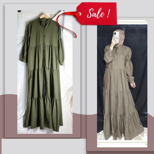 Foto Produk Alona maxi, gamis wanita terbaru, gamis lebaran - Hijau dari tokobarangready