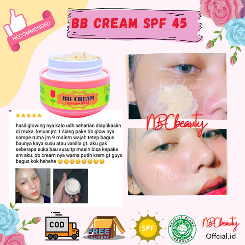 Foto Produk BB CREAM CRYSTAL GLOWING SPF 45 | KRIM KOREA dari NBC Beauty Official Store.id