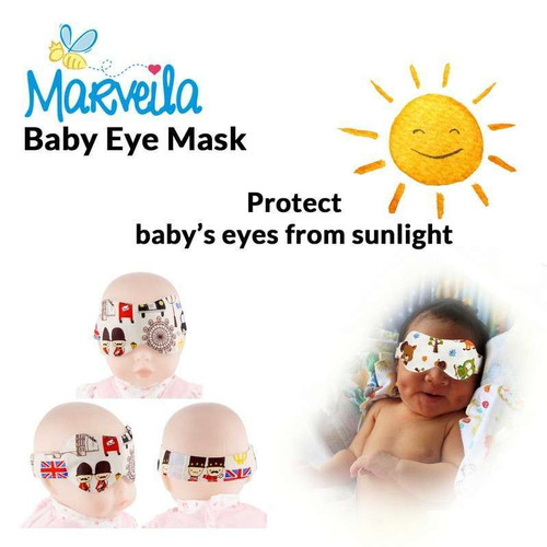 Foto Produk Marveila Baby Eye Mask / Tutup Mata / Kacamata Jemur Bayi - Baby Girl dari Marveila & Friends